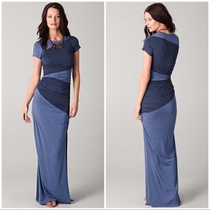 Torn by Ronny Kobo Dolores Dress in Mixed Blues